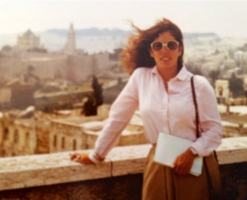 Cindy Stern in Jerusalem in 1982