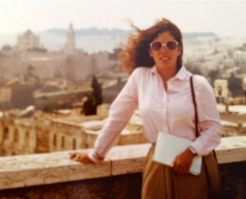 Cindy Stern in Jerusalem in 1982